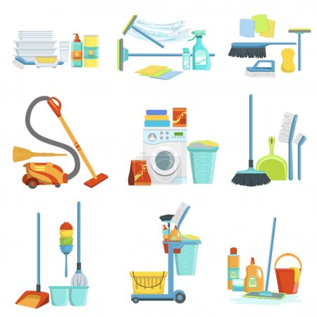 Cleaning Household Equipment Sets