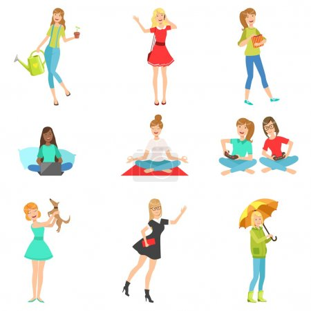Women And Girls Different Lifestyle  Activities Collection