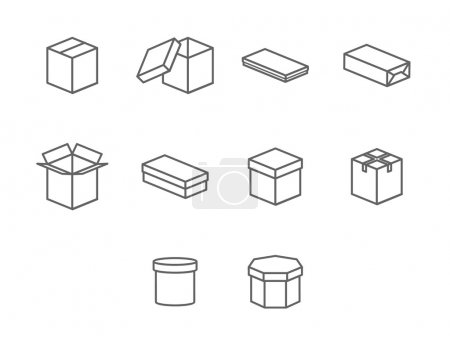 Photo for Simple set of box and crates related vector icons for your design - Royalty Free Image
