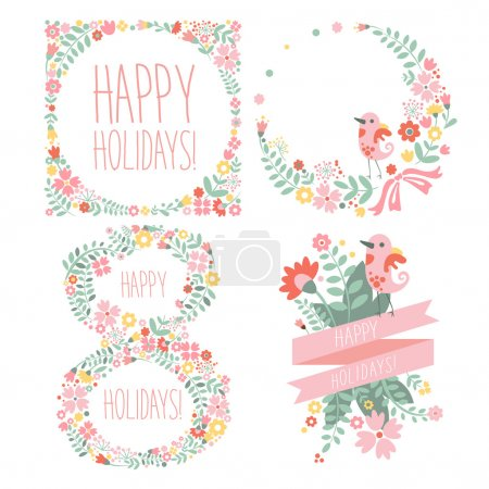Photo for Number eight 8 of flowers. Sketch element for international womens day. vector illustration - Royalty Free Image