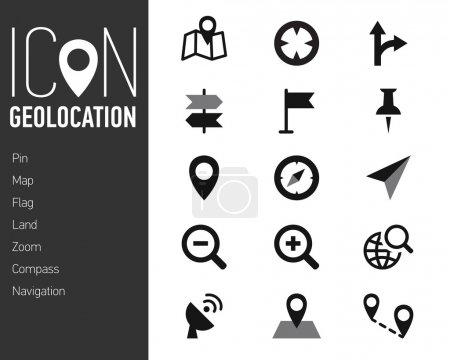 Photo for Map Icons and Location Icons with White Background simple linear style - Royalty Free Image