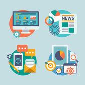 Seo internet marketing icons