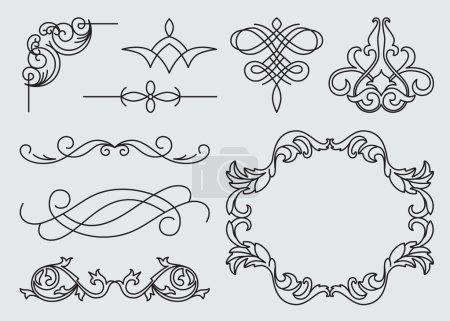 Calligraphic design elements.