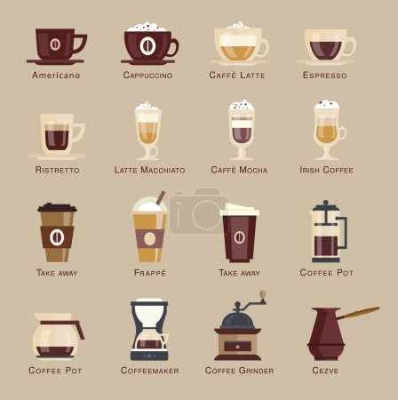 Coffee  icon set menu.