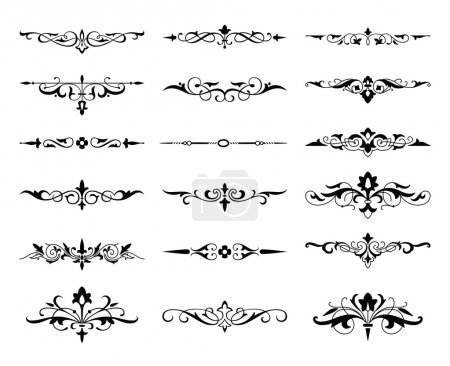 Illustration for Graphic elements calligraphic vector sets for designers - patterns, designs, monograms and curlicues, arrows. For weddings,Valentine's day,holidays,baby design,birthday. - Royalty Free Image
