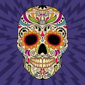 Color mexican skull