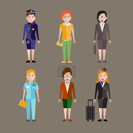 Photo pour Différentes professions personnages - image libre de droit