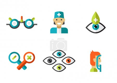 Photo for Optical icons, ophthalmology icons set, vector symbols - Royalty Free Image