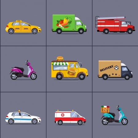 urban and city cars and vehicles