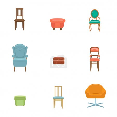 Furniture icon set.
