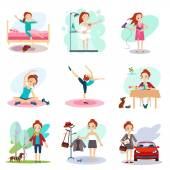 Daily Routine Vector set