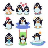 Penguin Set Vector Illustration