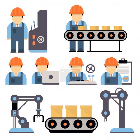Illustration pour Icône d'usine sur fond blanc - image libre de droit
