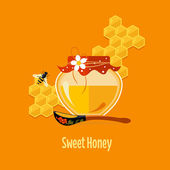 Jar with Honey Vector
