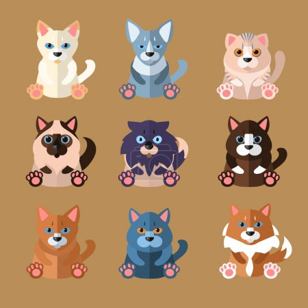 Breeds of Cats Icons.