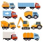 Постер, плакат: Trucks and tractors set