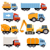Trucks and tractors set