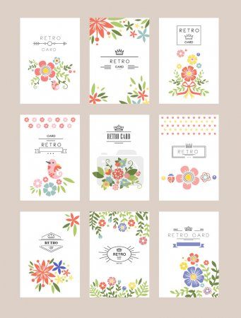 Floral collection of romantic invitations