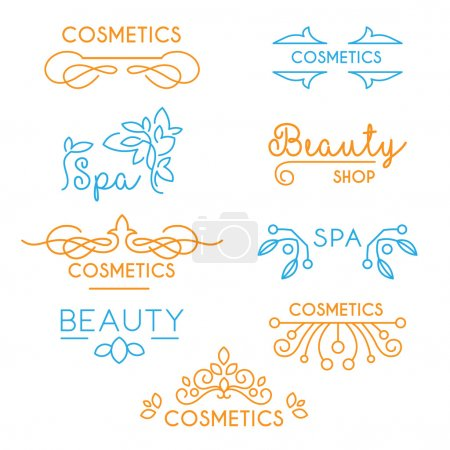Illustration for Vector Beauty and Care logo templates - Royalty Free Image