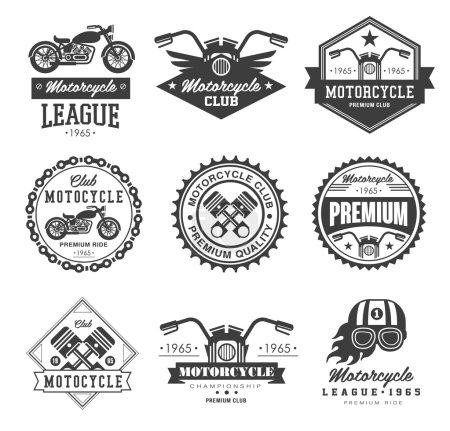 Photo for Vintage Motorcycle Badge on white background - Royalty Free Image
