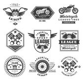 Vintage Motorcycle Badge on white background