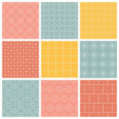 Geometric patterns Set of vector seamless abstract vintage backgrounds Endless texture can be used for printing onto fabric and paper or scrap booking