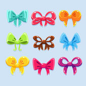 Colorful ribbons and bow ties
