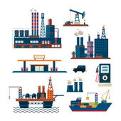 Oil industry business concept