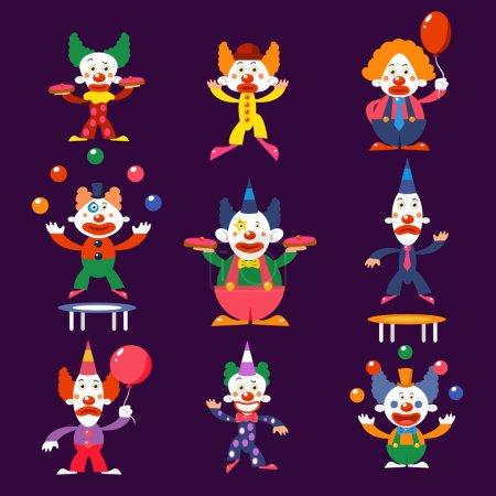 Circus clowns set