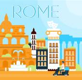 Rome Traditional Background