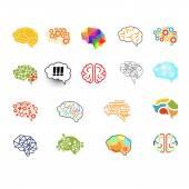 Brain Icon Set Vector Illustration Set