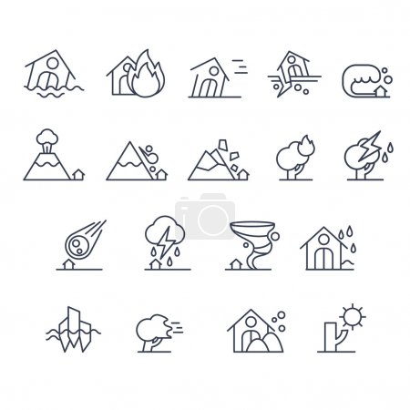 House Insurance Icon Set
