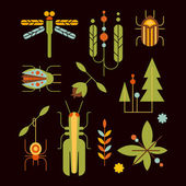 Nature Insects Leaves and Tree Icons