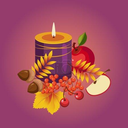 Thanksgiving Autumn Illustration