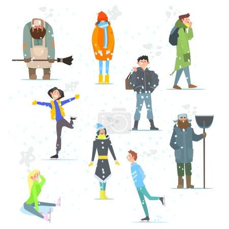 People in Winter. Winter Activities.