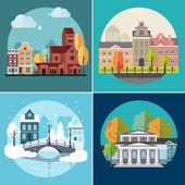 """Постер, картина, фотообои """"Город и город здания, пейзажи"""""""