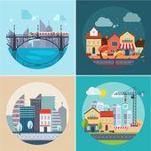 """Постер, картина, фотообои """"Город и город пейзажи, здания"""""""
