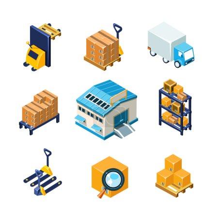 Warehouse and Logistics Equipment Icon