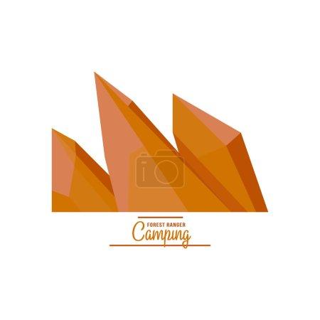 Illustration pour Majestueuse illustration vectorielle de crête de montagne dans un style plat - image libre de droit