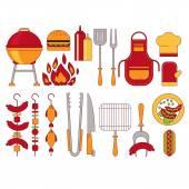 Barbecue gril ikony vektorový Illustratio