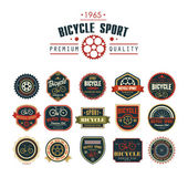 Bicycle set badges logos and labels