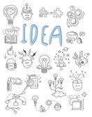 Idea brainstorming icons