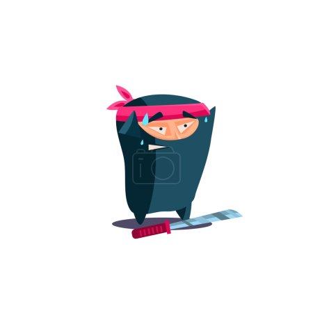 Cute Emotional Ninja Scared, Dropped Weapon