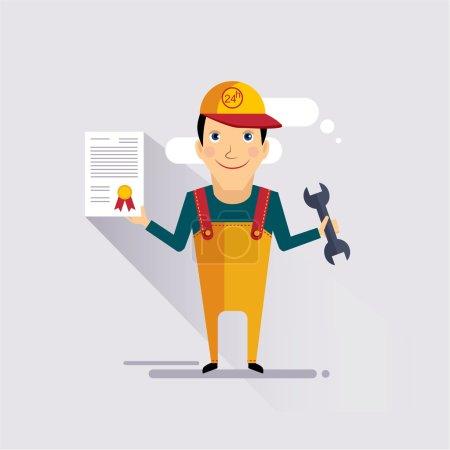 Illustration pour Assurance auto et service Illustration vectorielle colorée - image libre de droit