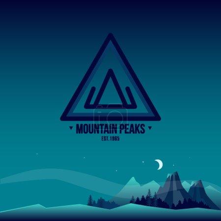 Illustration for Mountain Peaks. Logo and Landscape Vector Illustration - Royalty Free Image