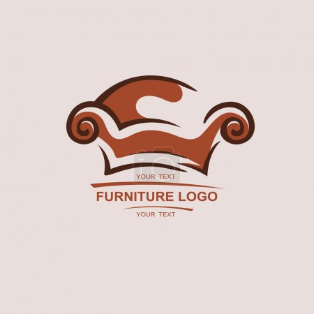 Sofa furniture logo for your business. Element design vector set