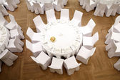 Krásně organizované akce - sloužila slavnostní tabule