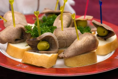 Catering - beef tongue appetizer