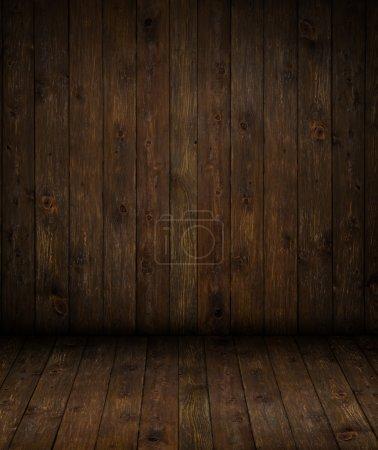 Foto de Piso y pared del fondo de madera vacía - Imagen libre de derechos