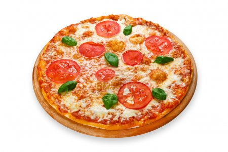 Delicious pizza with mozarella and tomatoes - Margherita